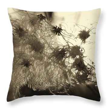 Filaments Throw Pillow by Eunice Gibb