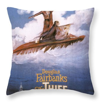Film: The Thief Of Bagdad: Throw Pillow by Granger