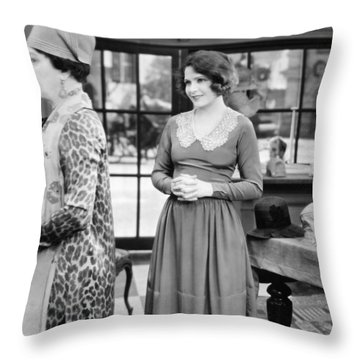Film: Woman Disputed, 1928 Throw Pillow by Granger