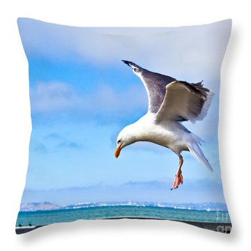 Final Approach - San Francisco Throw Pillow