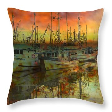 Final Rest Throw Pillow by Shirley Sirois