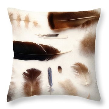 Finding Feathers Throw Pillow