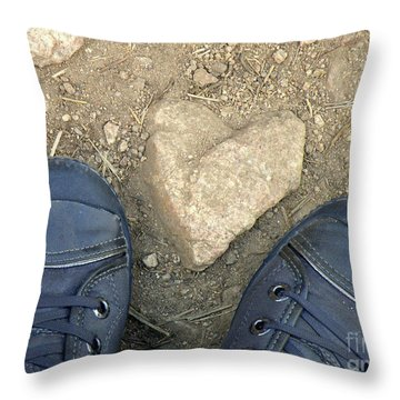 Finding Hearts Throw Pillow