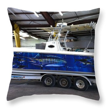 Fine Art Boat Wraps Throw Pillow by Carey Chen