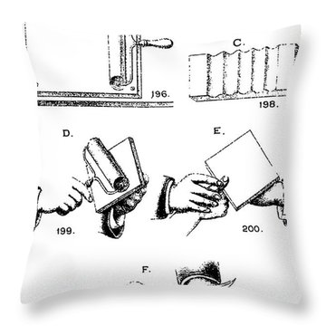 Fingerprinting Instructions, Circa 1900 Throw Pillow by Science Source