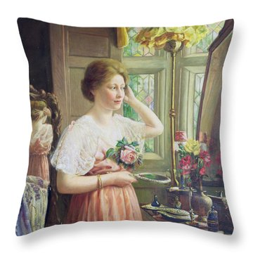 Finishing Touches Throw Pillow by George Wimpenny