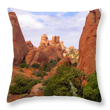 Fins Throw Pillow by Marty Koch