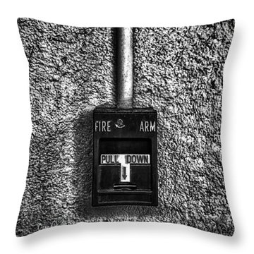 Fire Arm Pull Down Throw Pillow by Bob Orsillo
