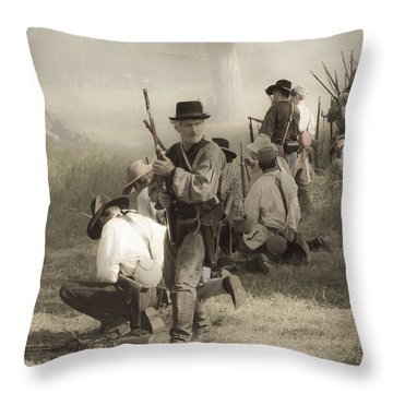 Fire At Will Throw Pillow by Kim Henderson