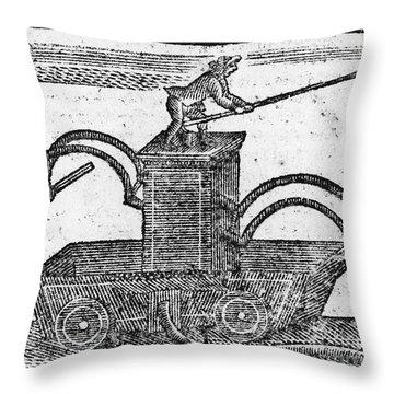 Fire Engine, 1769 Throw Pillow by Granger