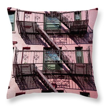 Fire Escape Throw Pillow by Axiom Photographic