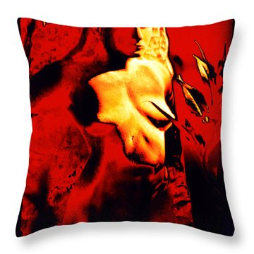 Fire Goddess Pele Of Hawaiian Volcanoes Throw Pillow