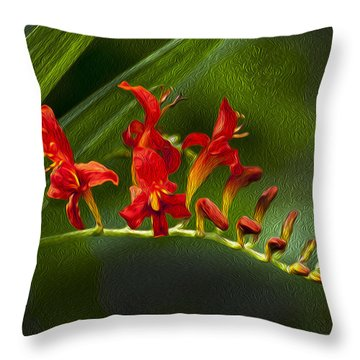 Fire In The Garden Throw Pillow
