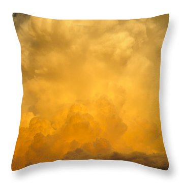 Fire In The Sky Fsp Throw Pillow by Jim Brage