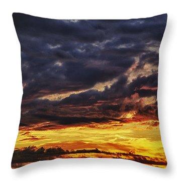 Fire Lake Throw Pillow by Skip Nall