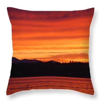 Fire Sky Throw Pillow
