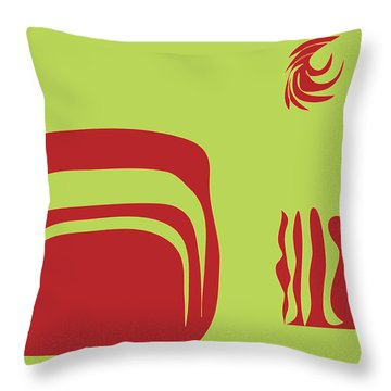 Fire Spirit Cave Throw Pillow by Kevin McLaughlin