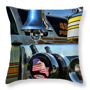Fire Truck Bell Throw Pillow by Paul Ward