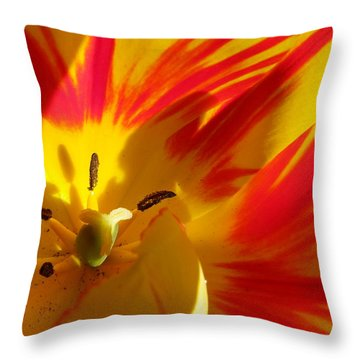 Fire Tulip Throw Pillow