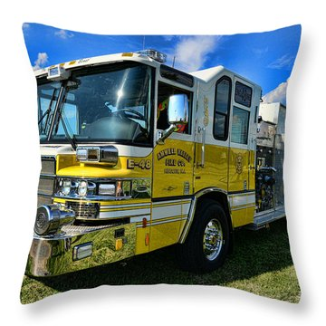 Fireman - Amwell Valley Fire Co. Throw Pillow by Paul Ward