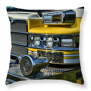 Fireman - Fire Siren Throw Pillow by Paul Ward