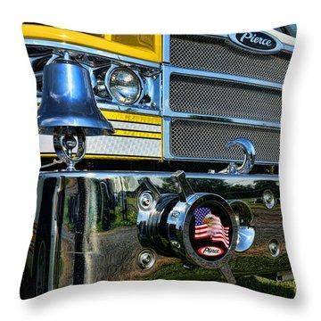 Fireman - Pierce Fire Truck Throw Pillow by Paul Ward