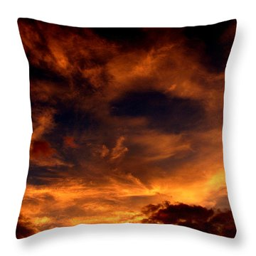 Firesky Throw Pillow