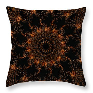 Firestorm 6 Throw Pillow by Rhonda Barrett
