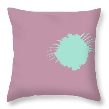 Firework Abstract L Throw Pillow by Michelle Calkins