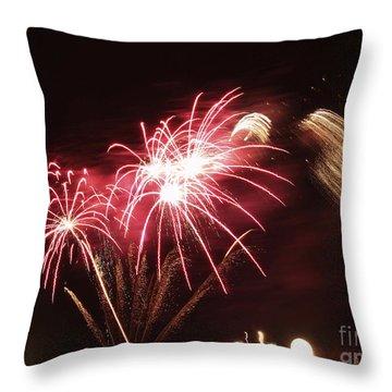 Firework Display Throw Pillow by Bernard Jaubert