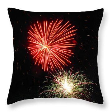 Fireworks 04 Throw Pillow by Ausra Huntington nee Paulauskaite