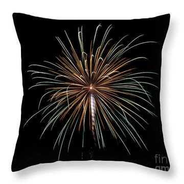 Throw Pillow featuring the photograph Fireworks 10 by Mark Dodd