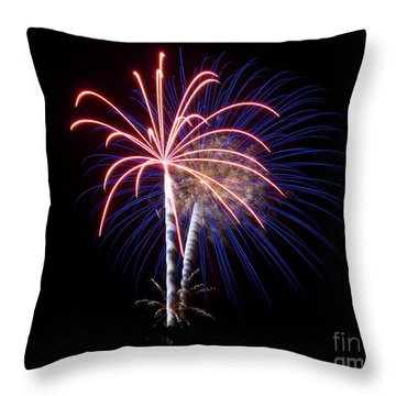 Throw Pillow featuring the photograph Fireworks 12 by Mark Dodd