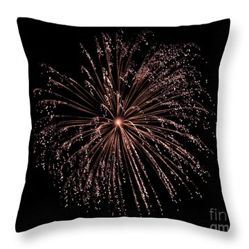 Throw Pillow featuring the photograph Fireworks 3 by Mark Dodd