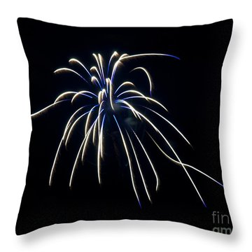 Throw Pillow featuring the photograph Fireworks 4 by Mark Dodd