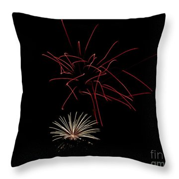 Throw Pillow featuring the photograph Fireworks 6 by Mark Dodd