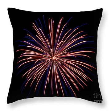 Throw Pillow featuring the photograph Fireworks 7 by Mark Dodd