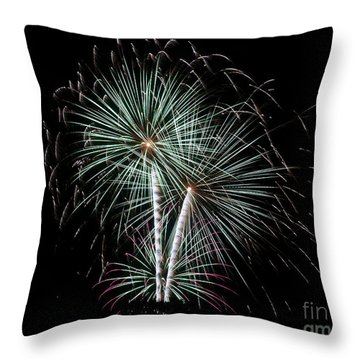 Throw Pillow featuring the photograph Fireworks 8 by Mark Dodd