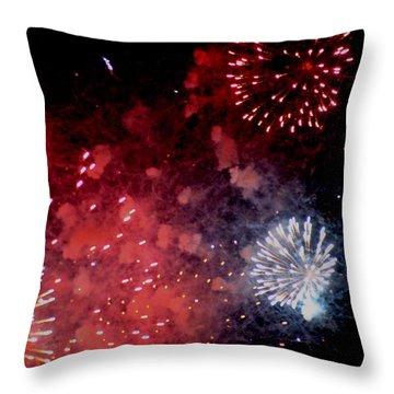 Fireworks II Throw Pillow by Kelly Hazel