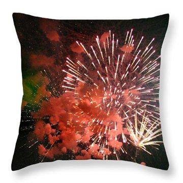Fireworks Throw Pillow by Kelly Hazel