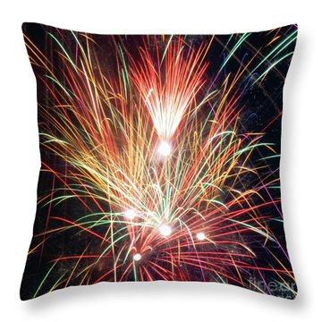 Fireworks One Throw Pillow