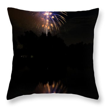 Fireworks Reflection Throw Pillow by James BO  Insogna