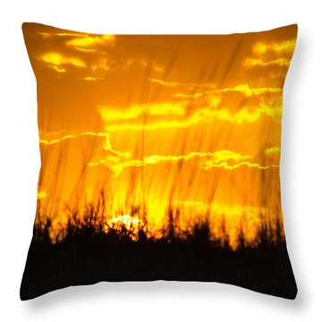 Throw Pillow featuring the photograph Firey Sunset by Shannon Harrington