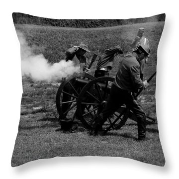 Firing The Canon Throw Pillow