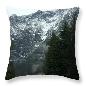 First Day In Glacier Throw Pillow by Amanda Kiplinger