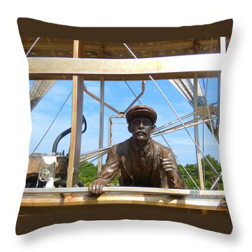 Throw Pillow featuring the sculpture First In Flight  by Lydia Holly