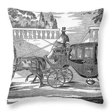 First Lady Carriage, 1851 Throw Pillow by Granger