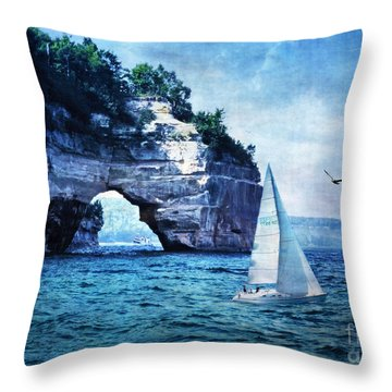 First League Out From Land Throw Pillow