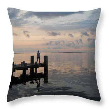 Throw Pillow featuring the photograph First Light by Clara Sue Beym