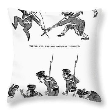First Opium War: Soldiers Throw Pillow by Granger